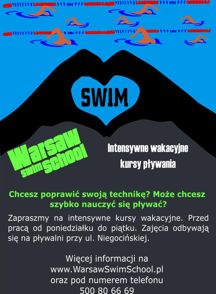 ulotka intensywny kurs pływania